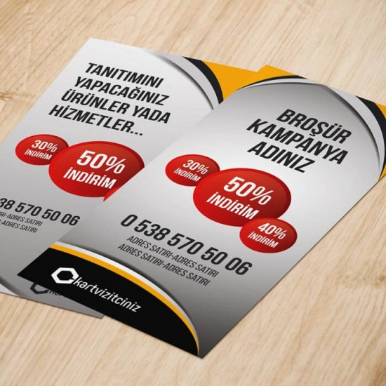 A7 El ilanı - Ekonomik Broşür 2000 adet